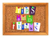 Cork Bulletin or Message Board. Royalty Free Stock Images