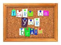 Cork Bulletin o tablero de mensajes. Fotografía de archivo libre de regalías