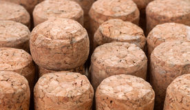 Cork from champagne as background Royalty Free Stock Photos