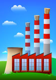 Cork in chimneys. Pollution stopper. Royalty Free Stock Images