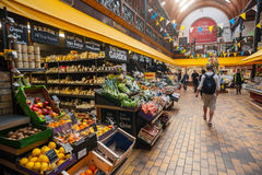 Cork city English market. Cork City, Ireland - 28th March 2015: Fruit and vegetables for sale in the English market in Cork City,The Market open since 1788 is a Royalty Free Stock Photos