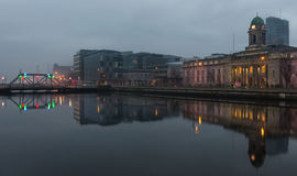 Cork city hall river reflection Stock Photography