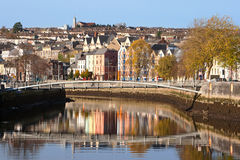 Cork City. Ireland. St Patrick's Quay on the north channel of river Lee. Cork City, Ireland Stock Photos