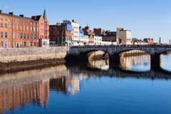 Cork City. Ireland. St Patrick's Quay on the north channel of river Lee. Cork City, Ireland Stock Photography