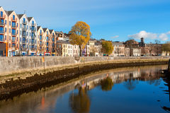 Cork city, Ireland. St Patrick's Quay on the north channel of river Lee. Cork city, county Cork, Ireland Stock Photos