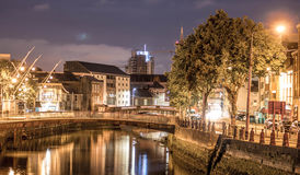 Cork City At Night. Long exposure of Cork city at night Stock Photo