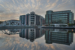 Cork city reflection near docks Royalty Free Stock Photo