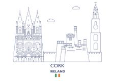 Cork City Skyline, Irlande Image libre de droits