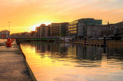 Cork city at sunset Stock Photos