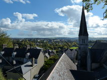 Cork city view from Sunday`s Well Cork Ireland. With a bright blue sky stock photo