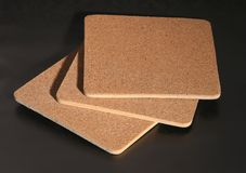 Cork coasters Stock Images