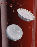 Cork in the coke. Vector illustration, AI file included Stock Images