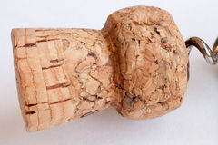 Cork with corkscrew Royalty Free Stock Photos