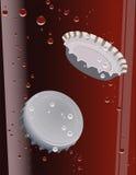 Cork in de cokes stock illustratie