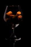 Cork in een glas Royalty-vrije Stock Fotografie