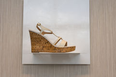 Cork Fashion Shoe Stock Images
