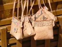 Cork Handbags Arkivbild