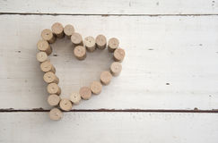 Cork hart Royalty-vrije Stock Foto's
