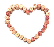 Cork heart. On the isolated background Royalty Free Stock Photography