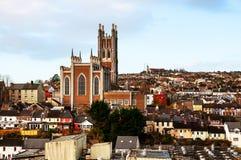 Cork, Ierland Luchtmening van kathedraal Royalty-vrije Stock Afbeelding