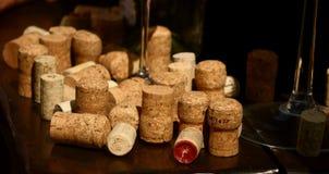 Cork inzameling van een viering Stock Fotografie