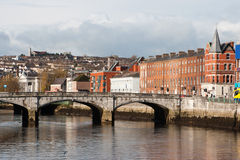 Cork, Ireland. The north channel River Lee and St Patrick's Bridge Stock Photo