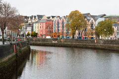 Cork, Ireland. St Patrick's Quay on the north channel of river Lee. Cork City, Ireland Stock Photo