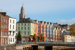 Cork, Ireland. St Patrick's Quay on the north channel of river Lee. Cork, Ireland Royalty Free Stock Photography