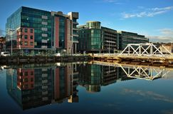 Cork, Ireland. Reflection of buildings, Cork city in Ireland Stock Photography