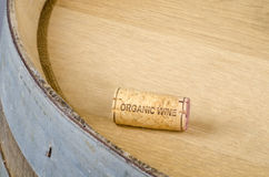 Cork Labelled Organic Wine Royalty Free Stock Photo