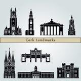Cork Landmarks stock illustratie