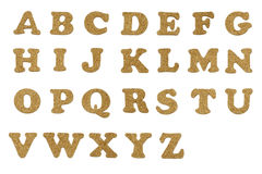 Cork Letters. Isolated Cork Letter Cutouts - Entire Alphabet Royalty Free Stock Images
