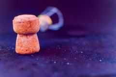 Cork and lid of a bottle of champagne royalty free stock photography