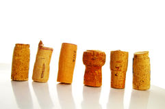 Cork line Royalty Free Stock Photography