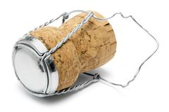 Cork Makro van Champagne Stock Afbeelding