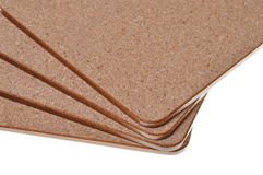 Cork mat with brown border Royalty Free Stock Image