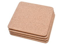 Cork mat with brown border Stock Photo