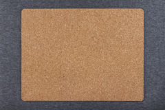 Cork mat isolated on gray background Stock Photo
