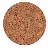 Cork mat isolated on white Stock Images