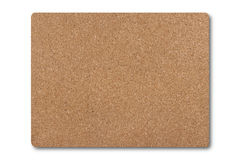 Cork mat isolated on white background Royalty Free Stock Photography