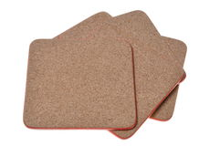 Cork mat with red border Royalty Free Stock Images