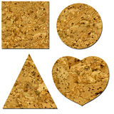 Cork mats isolated Royalty Free Stock Image