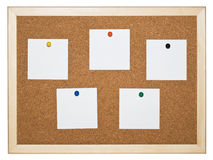 Cork memo board Royalty Free Stock Photo