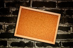Cork memory board Stock Image