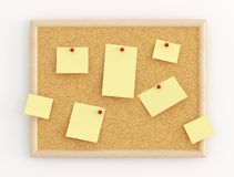 Cork Message Board Stock Photography