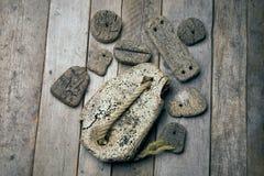 Cork op hout Royalty-vrije Stock Afbeelding
