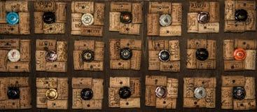Cork patroon met kroonkurk Royalty-vrije Stock Foto's