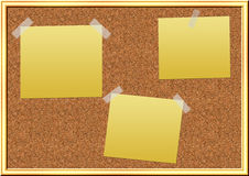 Cork pinboard Stock Image