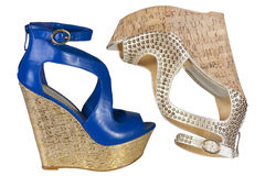 Cork platform  sandals Royalty Free Stock Images