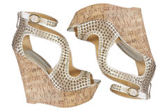 Cork platform  sandals Stock Image